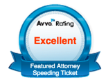 Speeding Ticket Featured Attorney Redford Livonia Avvo Badge