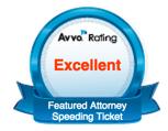 Speeding Ticket Featured Attorney Redford Livonia Avvo Badge